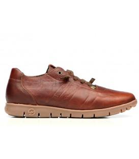 Zapato engrasado cuero piso caramelo