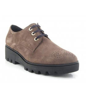 Zapato de cordones ante taupe