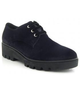 Zapatos de cordones terciopelo negro