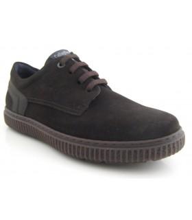 Zapato de cordones engrasado marrón
