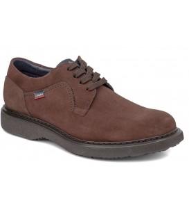 Zapato engrasado marrón con cordones