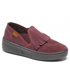 Deportiva slip on burdeos