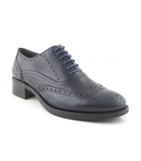 Zapatos de cordones negro corte clásico