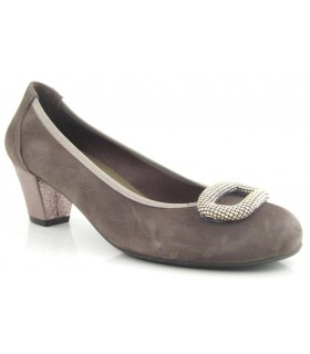 Zapato salón confort adorno