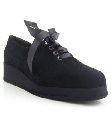 Zapato de cordones negro