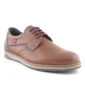Zapato de cordones camel