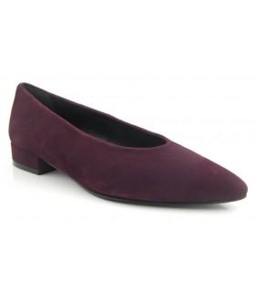 Zapato salón plano burdeos