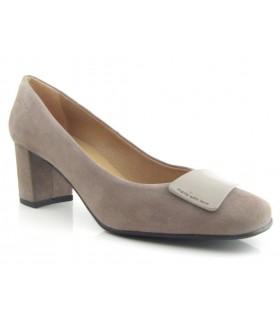 Zapato mujer adorno cuadrado