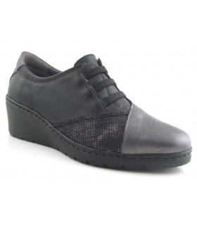 Zapato de cordones elásticos negro