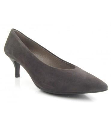 Zapato tacón chupete marrón