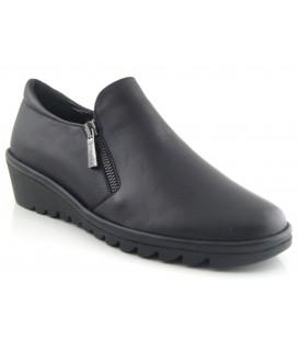Zapato de confort cremallera lateral