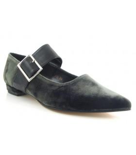 Zapato hebilla terciopelo