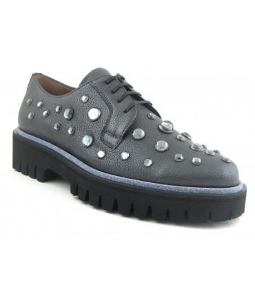 Zapato blucher con pedrería