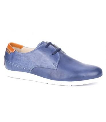 Zapatos de cordones liso azul