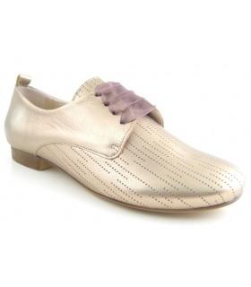 Zapatos de cordones metalizado plomo