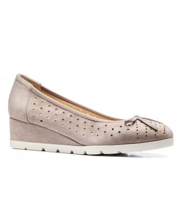 Zapato cuña adorno