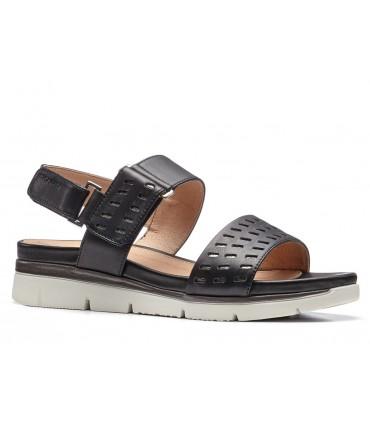 Sandalia con velcros plana