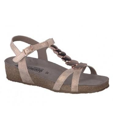 Sandalia suela bio adorno metálico