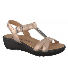 Sandalias de confort metalizada