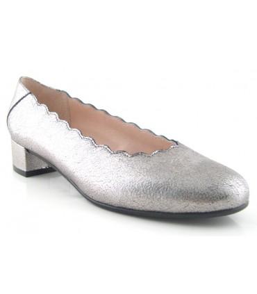 Zapato metalizado acero