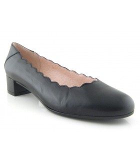 Zapato ondas piel negro