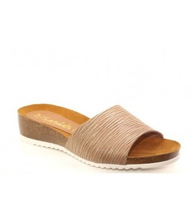 Sandalia Cuña mujer Oh My SANDALS 3931 TAUPE