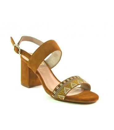 Sandalias para mujer ante cuero