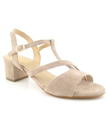 Sandalia medio tacón
