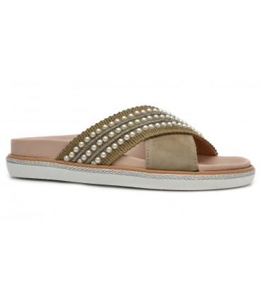 Sandalia ante kaki