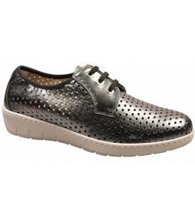 Zapato de cordones color plomo