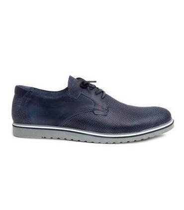 Zapato color marino con cordones