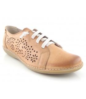 Zapato cordones elásticos calado