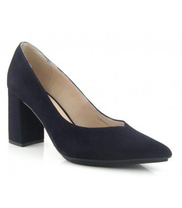 Zapato salón ante negro