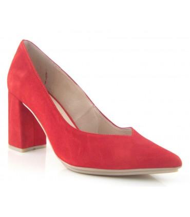 Zapato salón tacón rojo