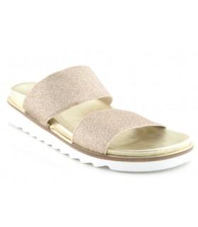 Sandalia color platino de dos tiras