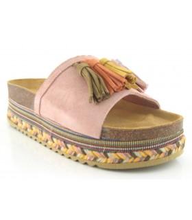 Sandalia con yute de colores