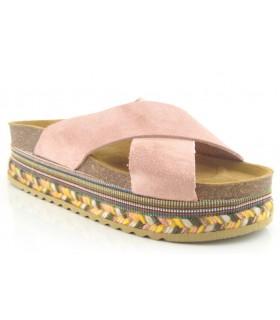 Sandalias con suela de esparto multicolor