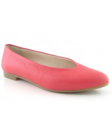 Zapato plano piel rojo