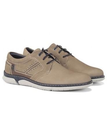 Zapato de cordones color gris