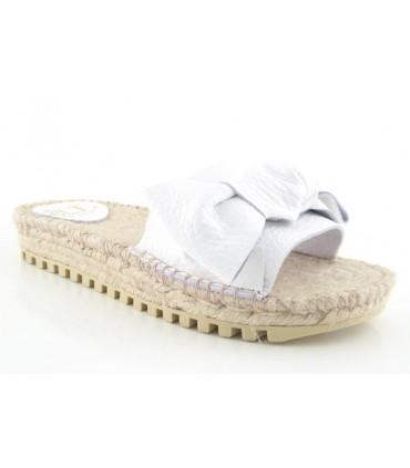 Sandalias de yute plana