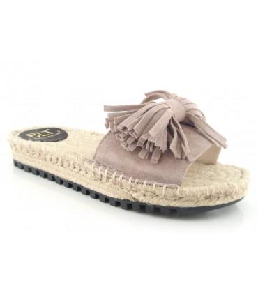 Sandalias de yute con lazo