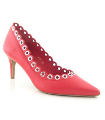 Zapato corte salón con ojales