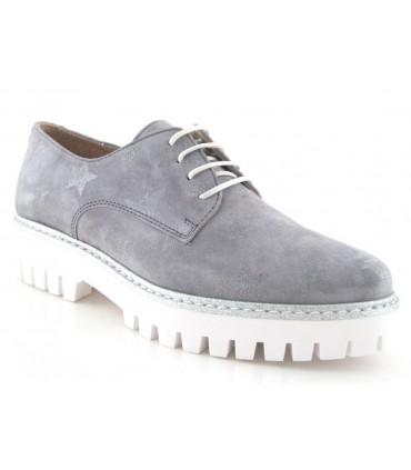 Blucher color gris con vira plateada