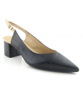 Zapato mujer negro destalonado