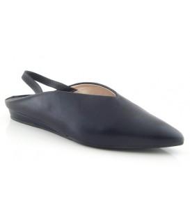 Zapato piel negro destalonado