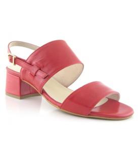 Sandalias de tacón bajo color rojo