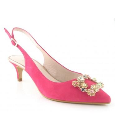 Zapatos con pedrería de tacón chupete
