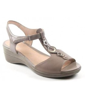 Sandalia de confort color taupe