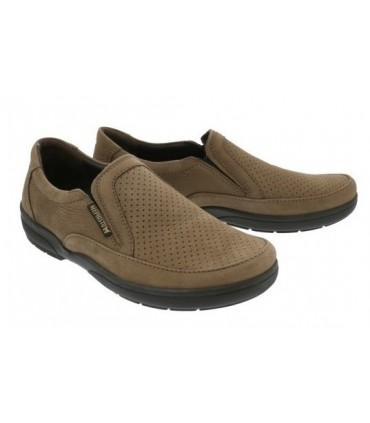 Zapatos mocasines nobuck marrón