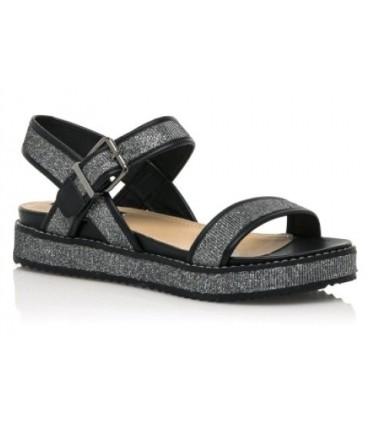 Sandalia negra para mujer